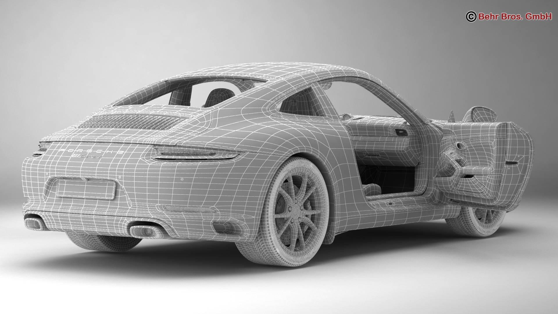 porsche 911 carrera 2017 3d model 3ds max fbx c4d lwo ma mb obj 217294