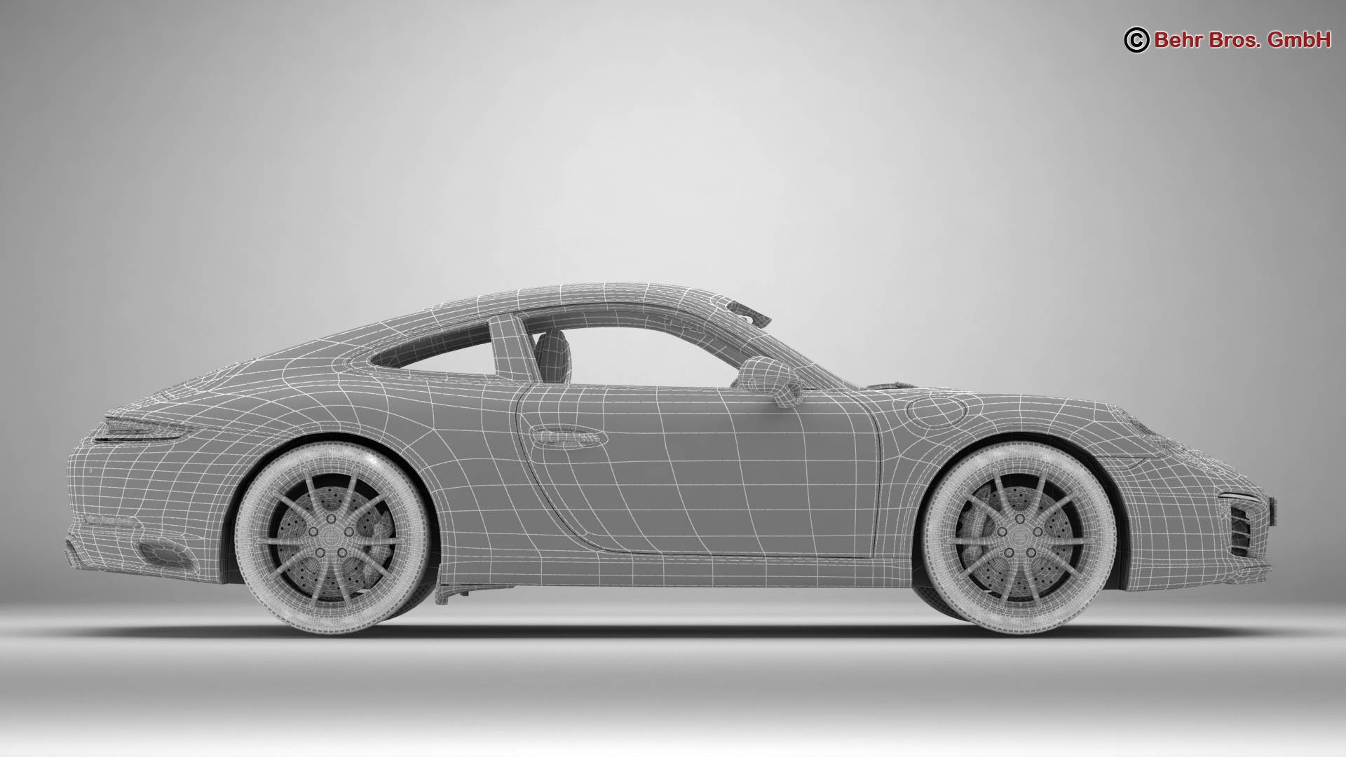 porsche 911 carrera 2017 3d model 3ds max fbx c4d lwo ma mb obj 217295