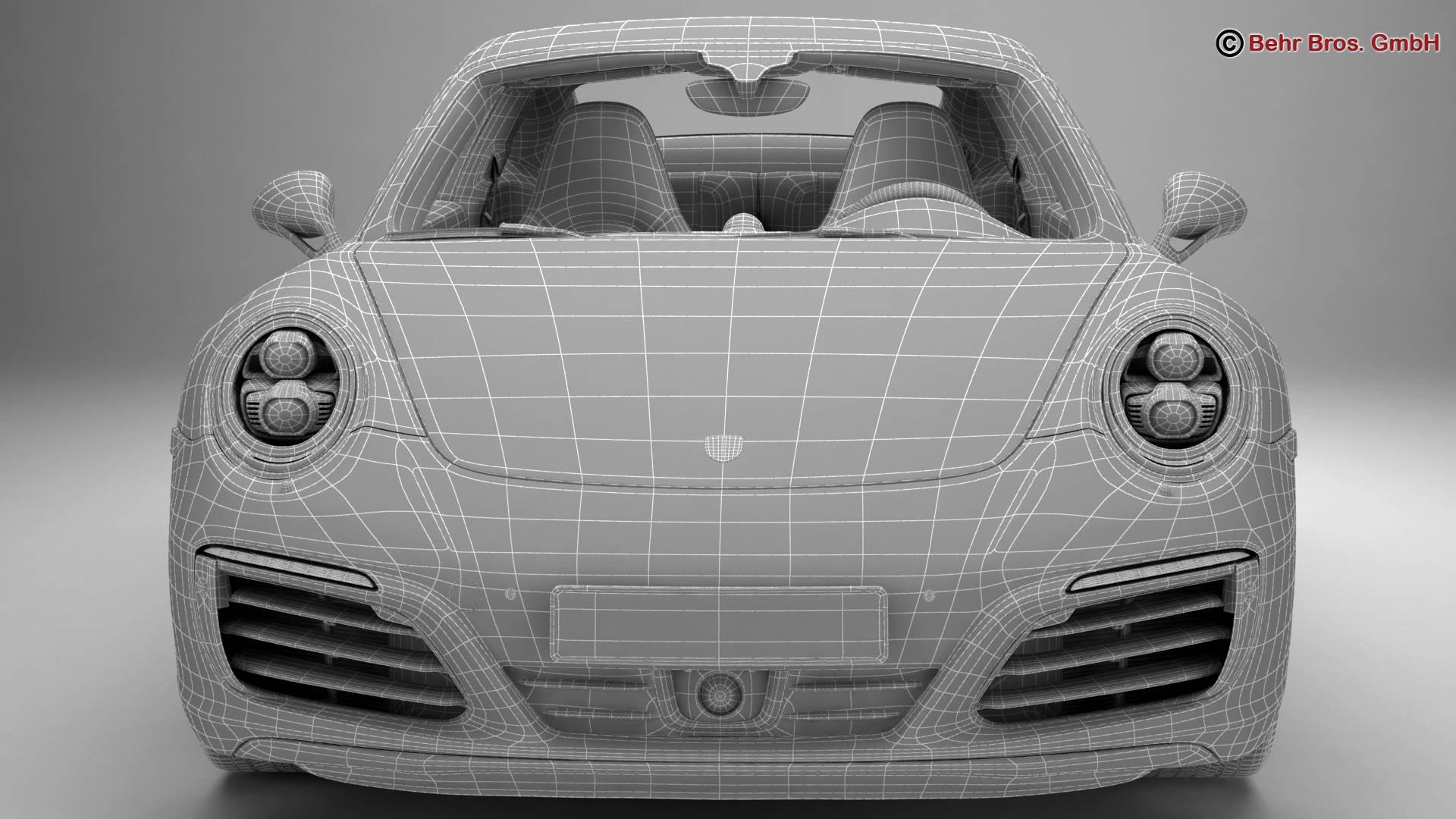 porsche 911 carrera 2017 3d model 3ds max fbx c4d lwo ma mb obj 217296