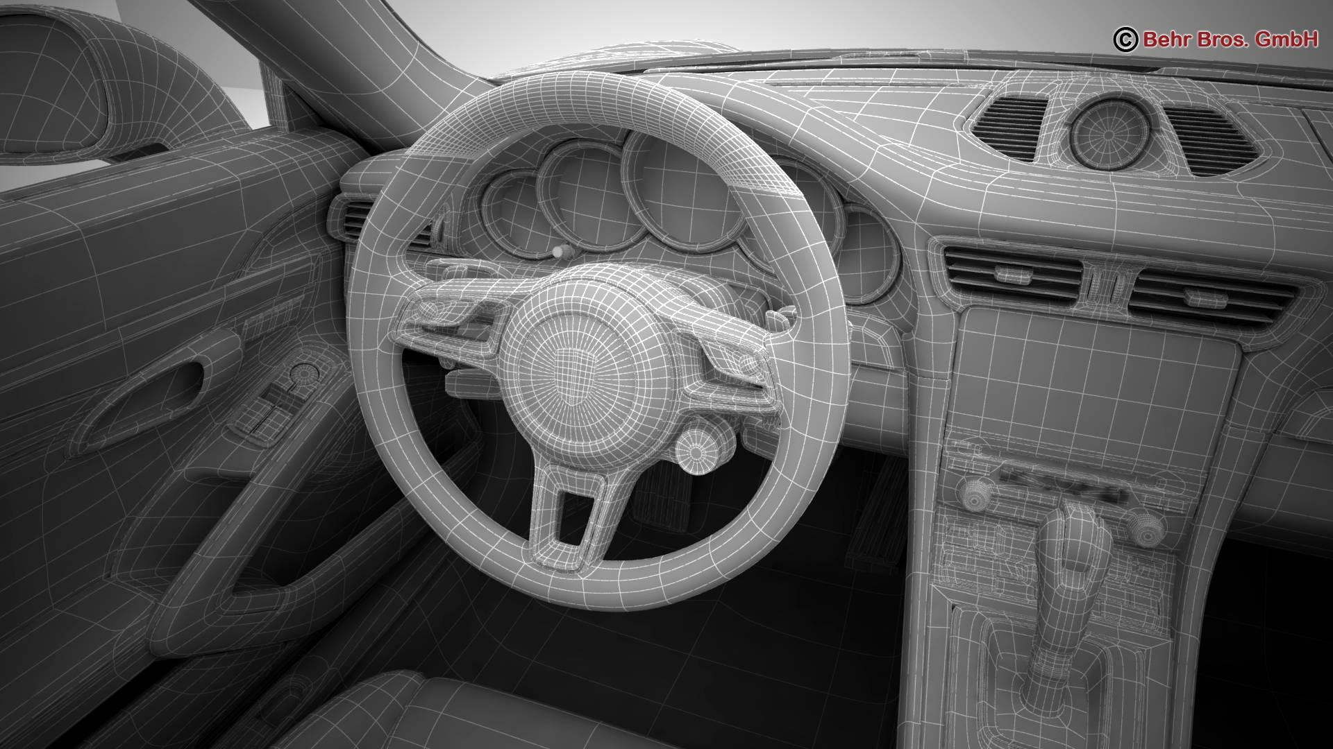 porsche 911 carrera 2017 3d model 3ds max fbx c4d lwo ma mb obj 217304