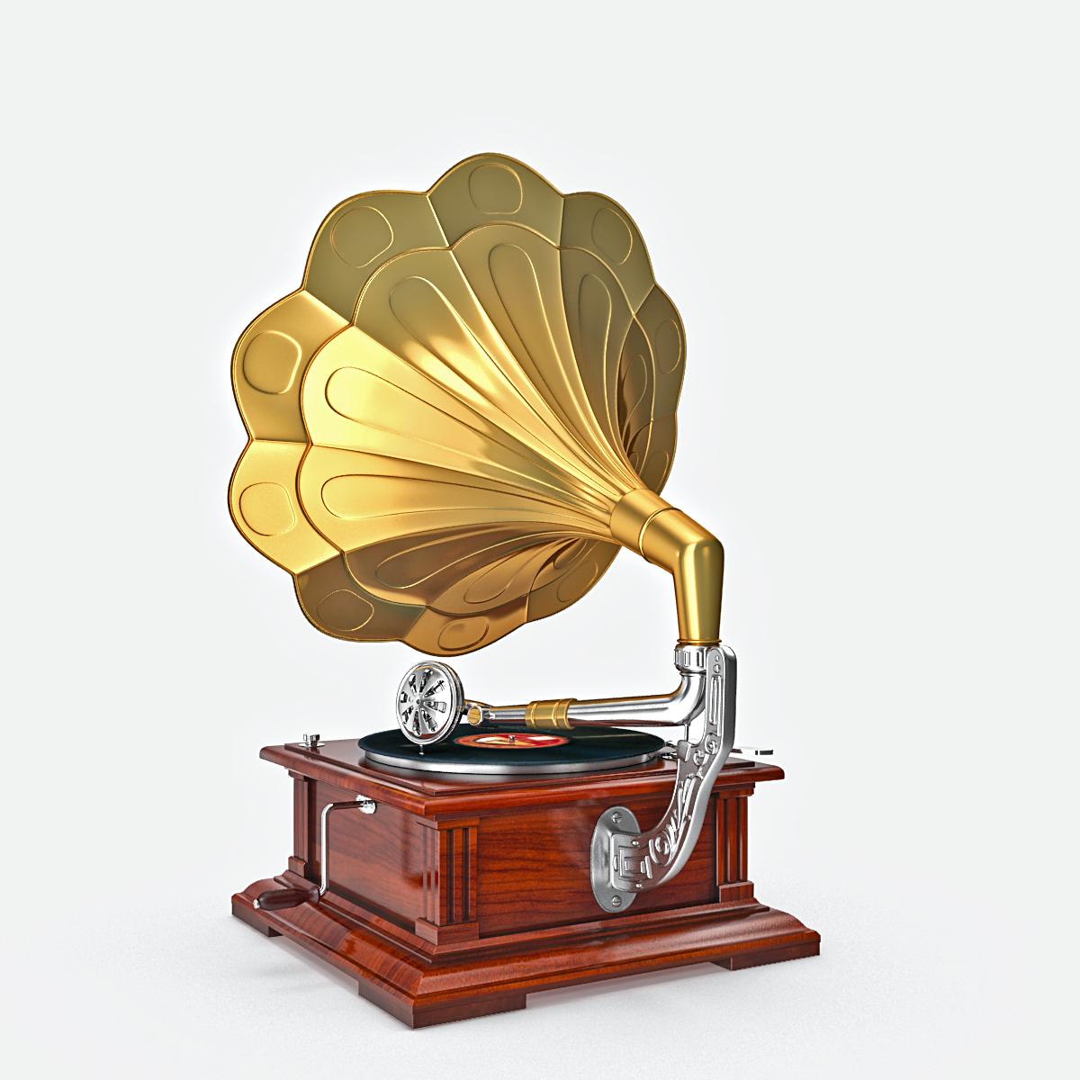 phonograph v1 3d model max fbx obj 217308