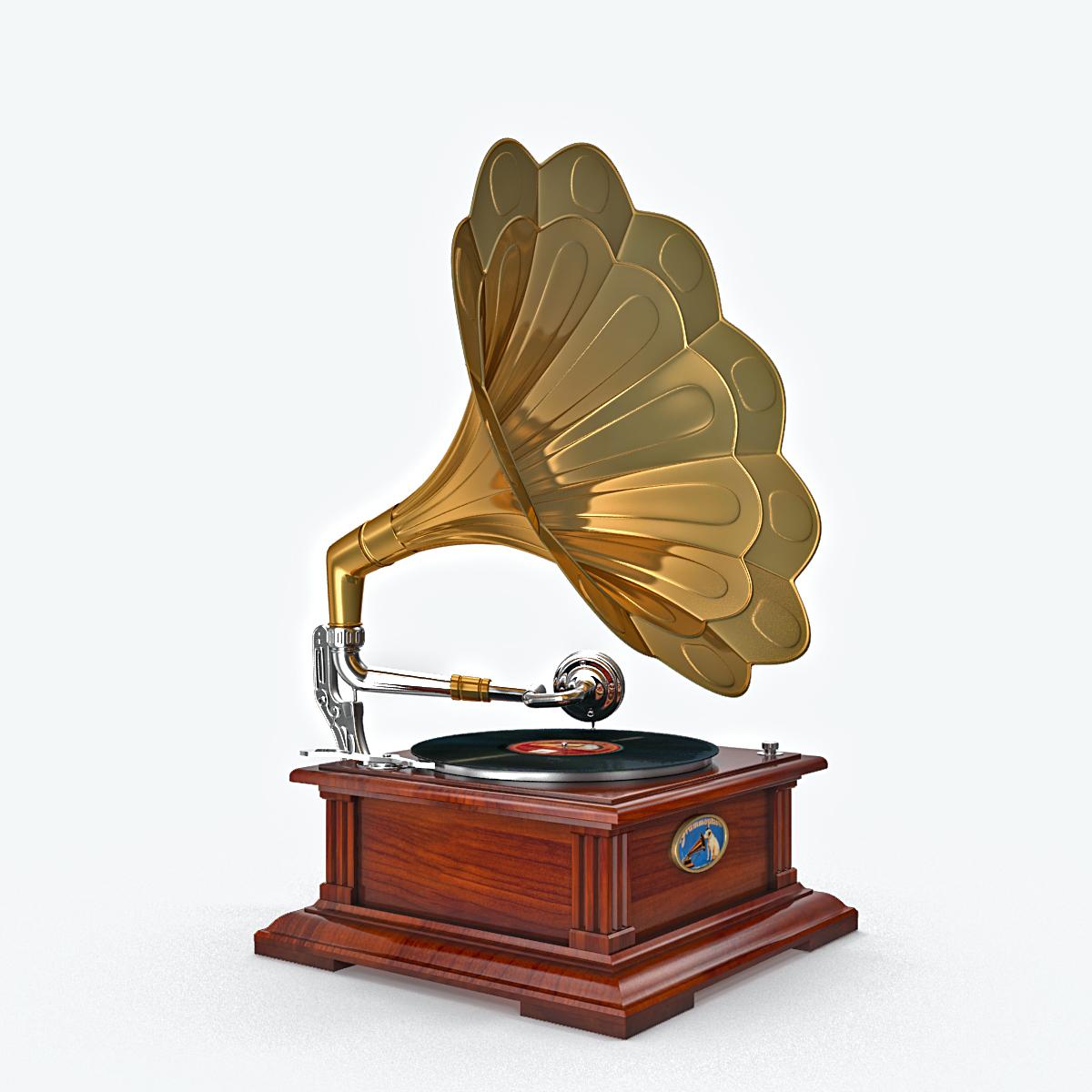 phonograph v1 3d model max fbx obj 217309