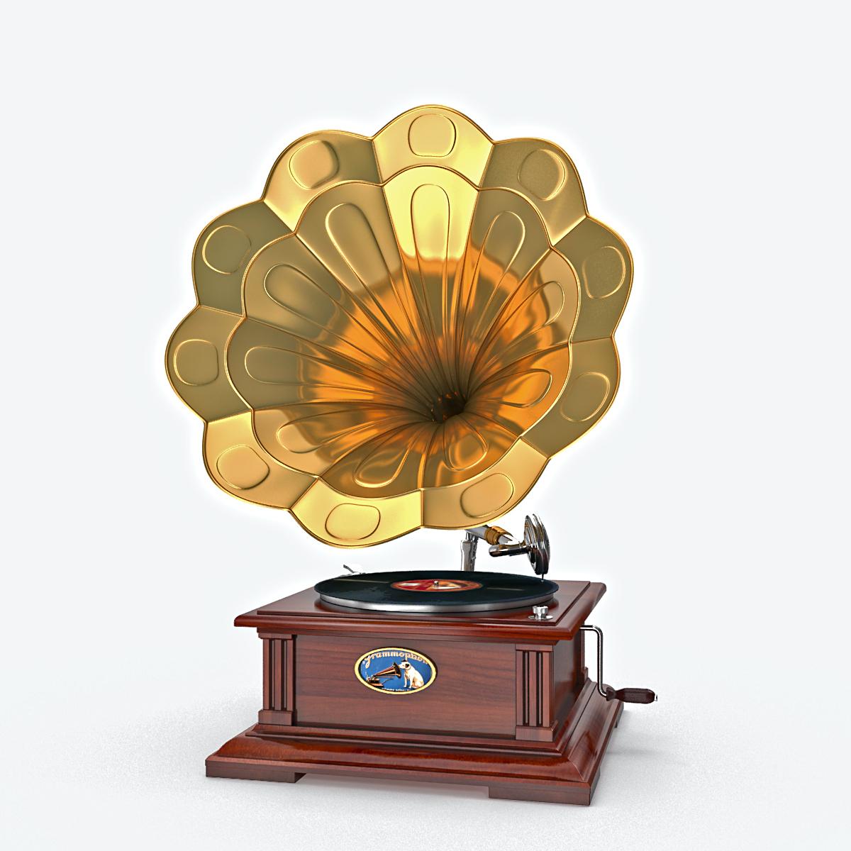 phonograph v1 3d model max fbx obj 217310