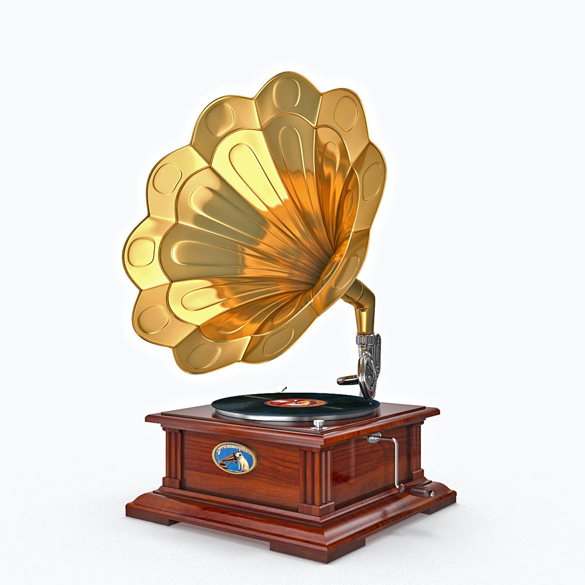 phonograph v1 3d model max fbx obj 217311