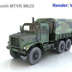 Oshkosh MTVR Mk23 3d model max