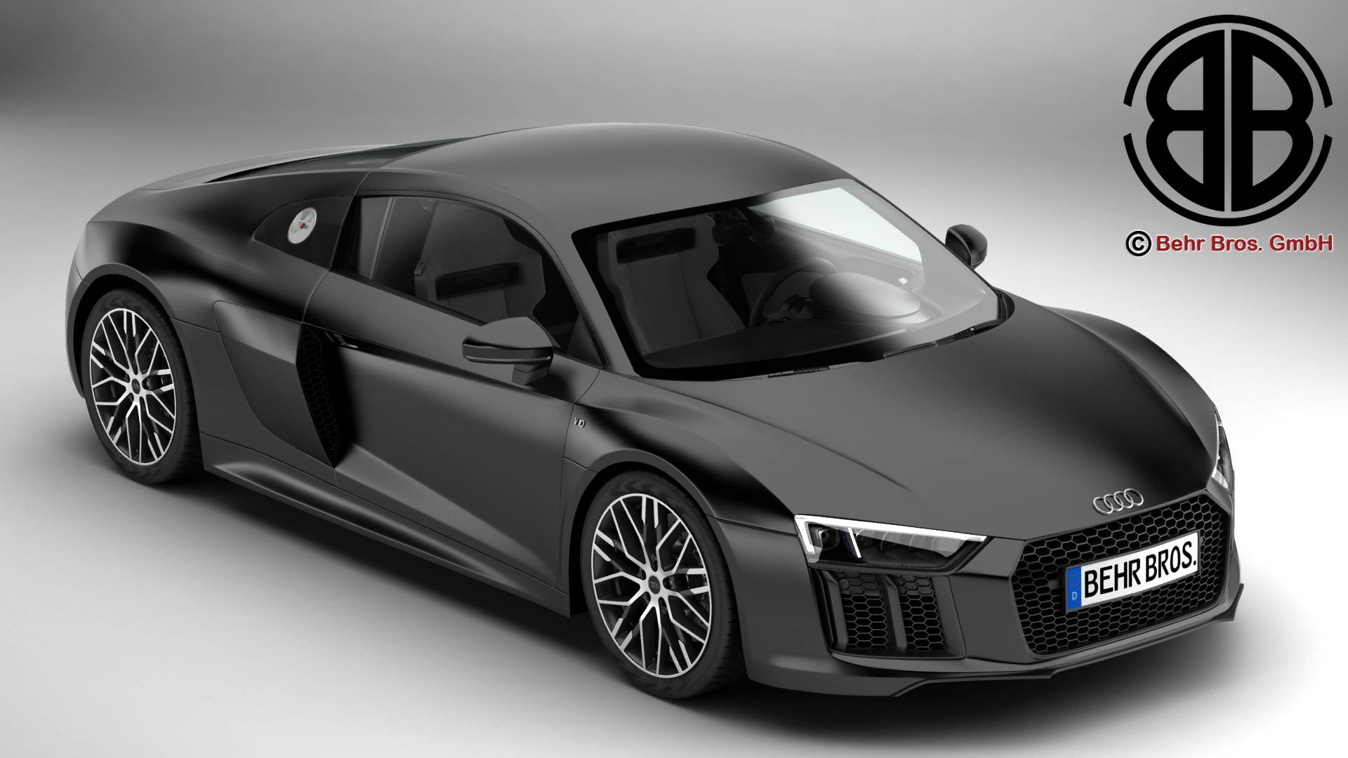 audi r8 v10 2016 3d model buy audi r8 v10 2016 3d model. Black Bedroom Furniture Sets. Home Design Ideas