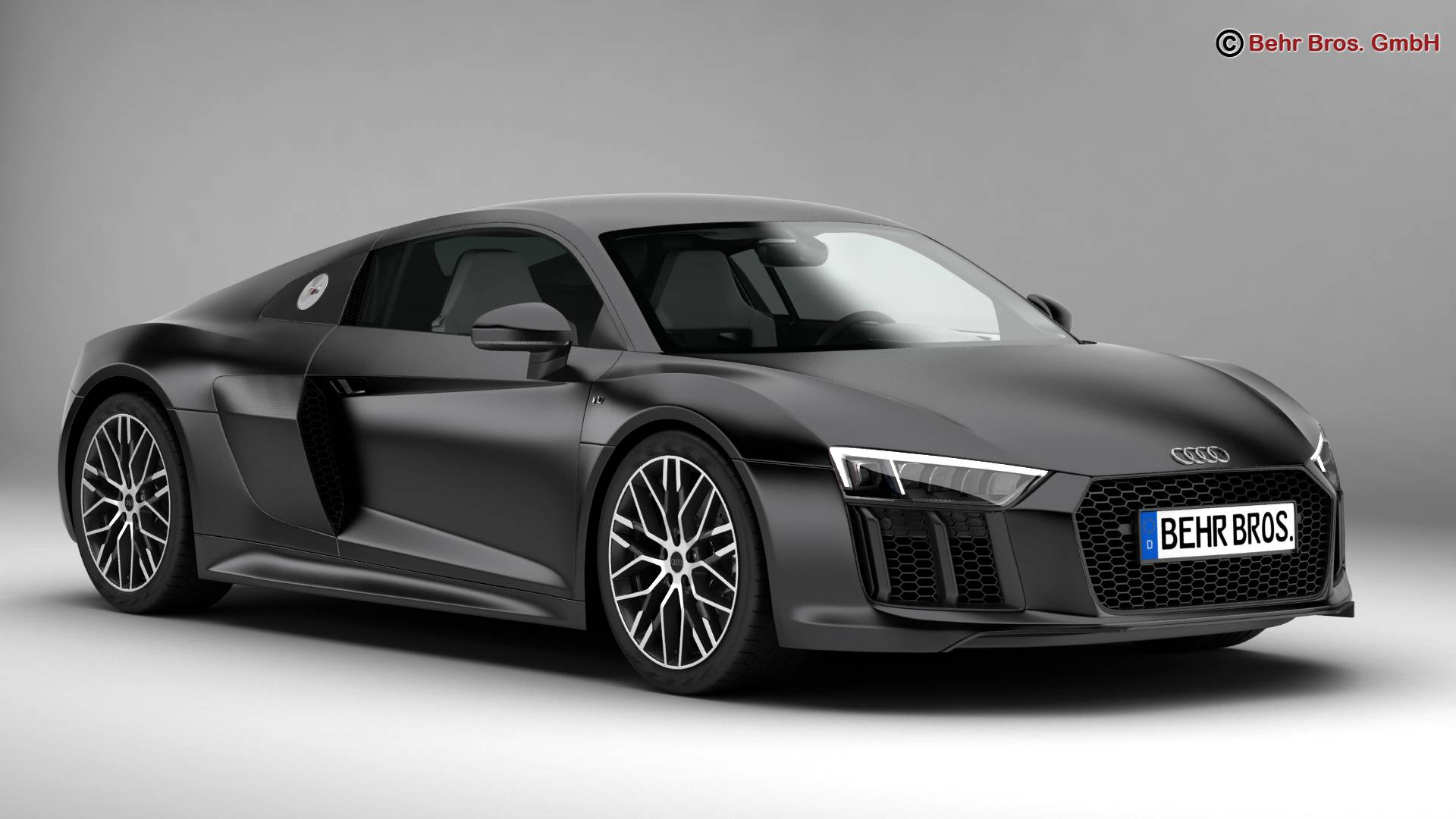 audi r8 v10 2016 3d model flatpyramid. Black Bedroom Furniture Sets. Home Design Ideas