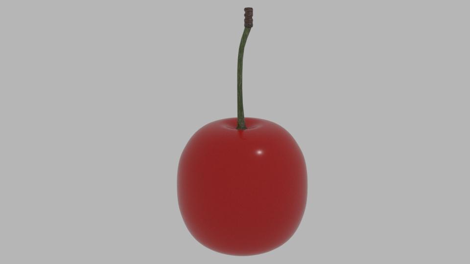 cherry 3d model blend 217362