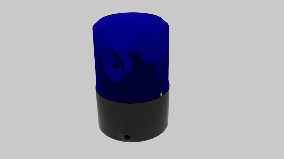 police siren 3d model blend 217369