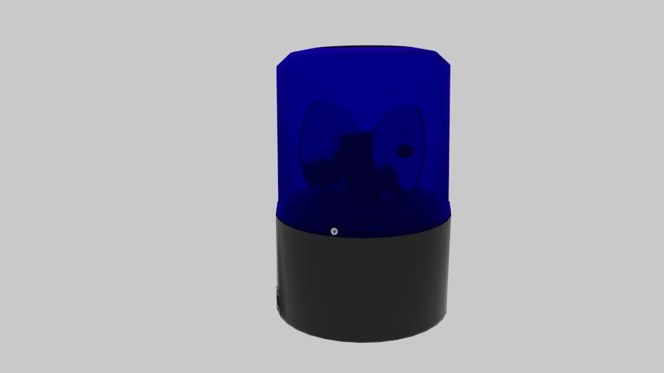 police siren 3d model blend 217370