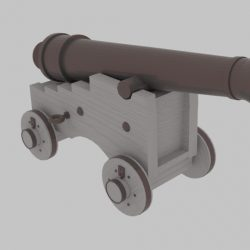 Pirate Cannon 3d model blend