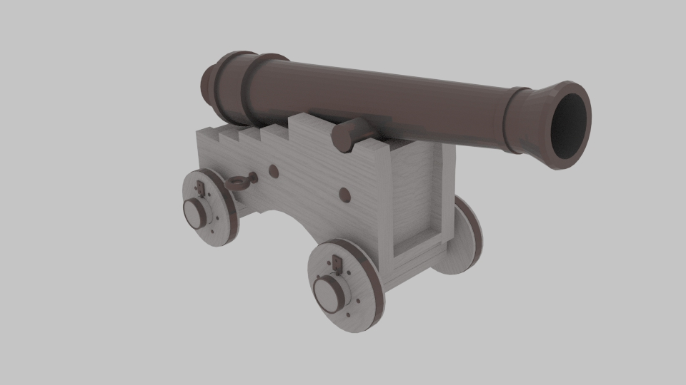 Pirate Cannon 3d model blend 217376