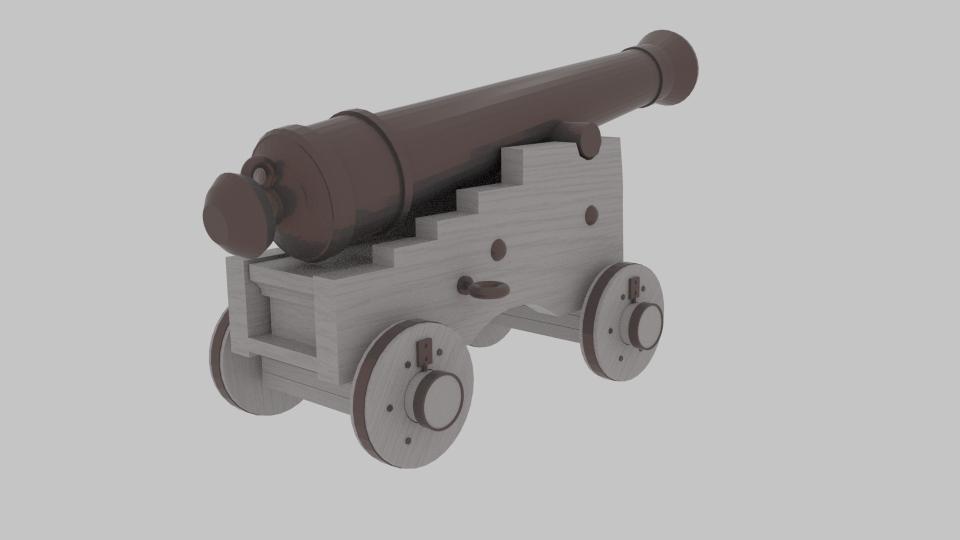 pirate cannon 3d model blend 217377