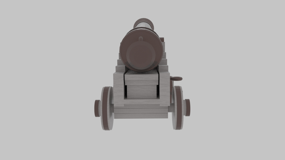 pirate cannon 3d model blend 217378
