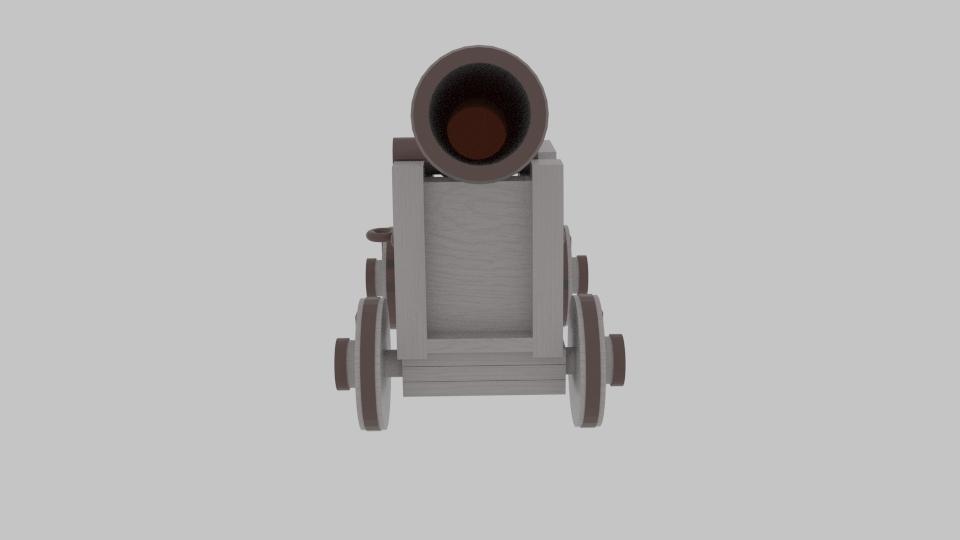 pirate cannon 3d model blend 217379