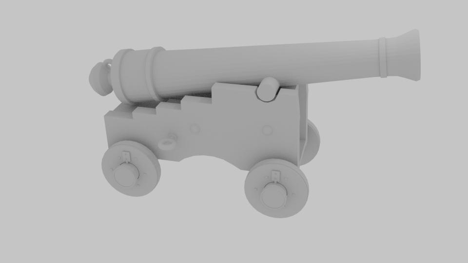 pirate cannon 3d model blend 217380