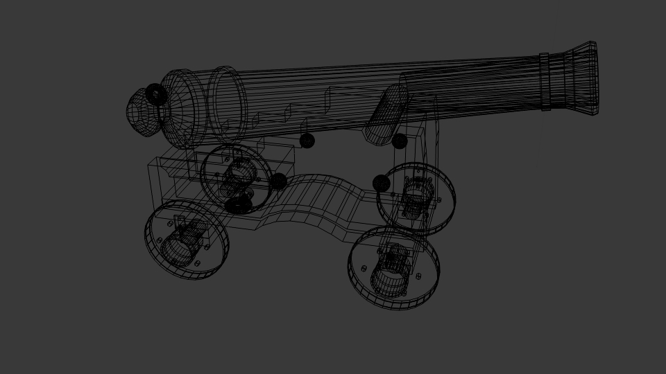 pirate cannon 3d model blend 217381