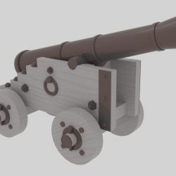 Cannon - №2 3d model blend