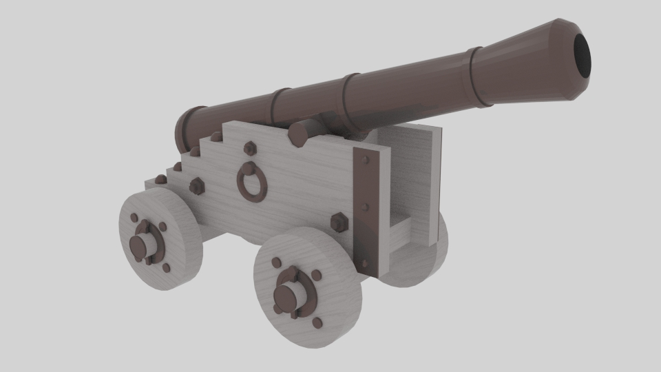 Cannon - №2 3d model blend 217383