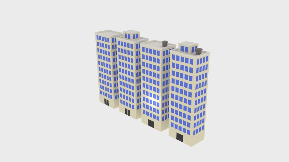 block building 3d model blend 217391