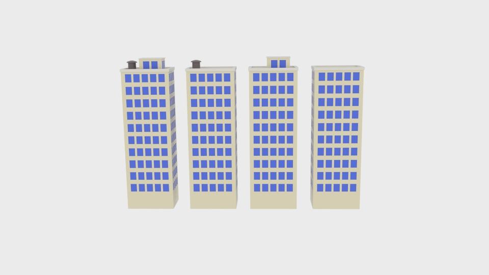 block building 3d model blend 217393