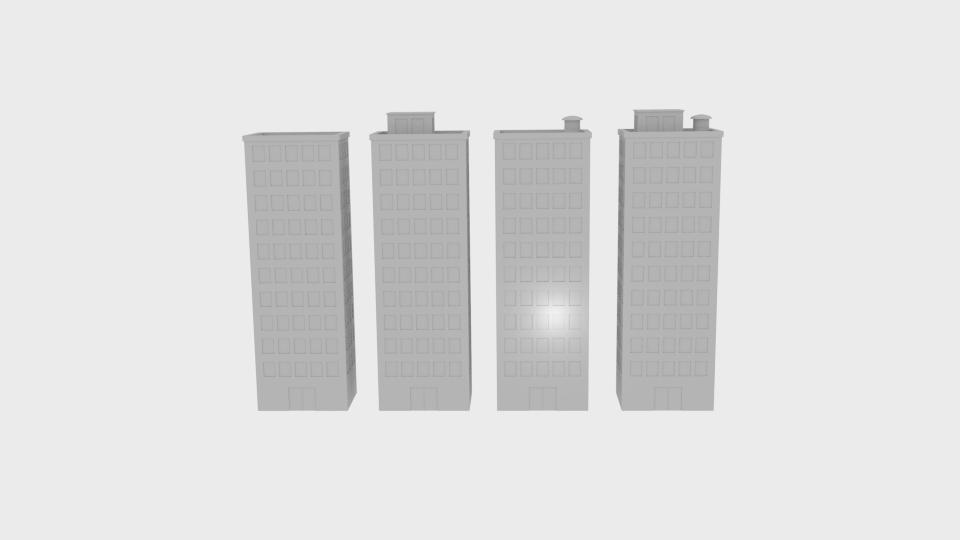 block building 3d model blend 217394