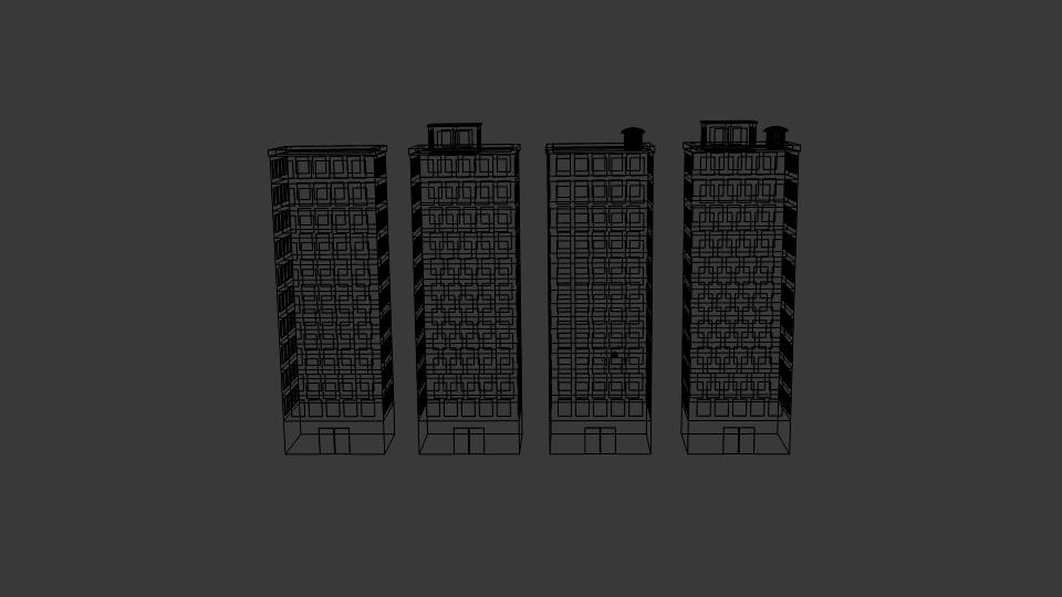 block building 3d model blend 217395