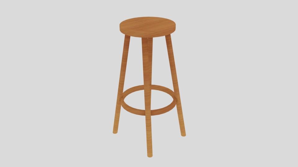high stool 3d model blend 217397