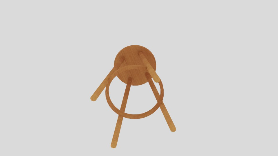 high stool 3d model blend 217399