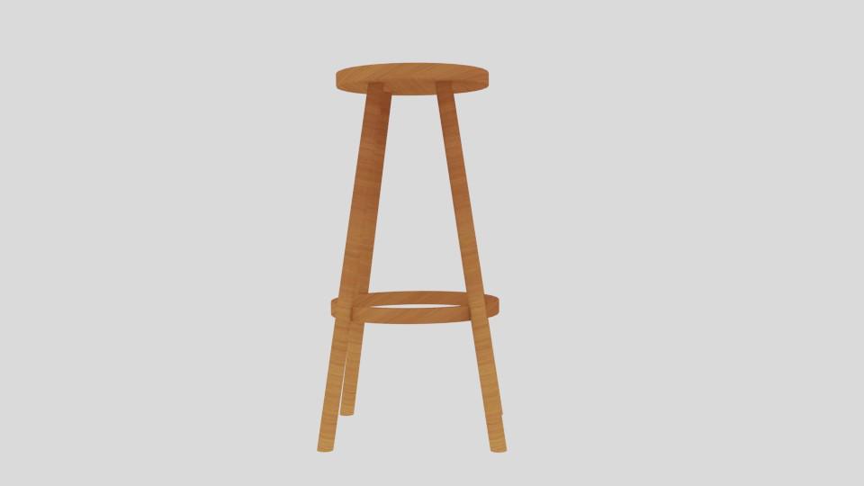 high stool 3d model blend 217400