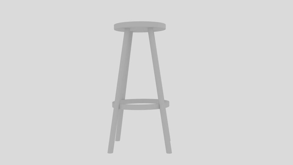 high stool 3d model blend 217401