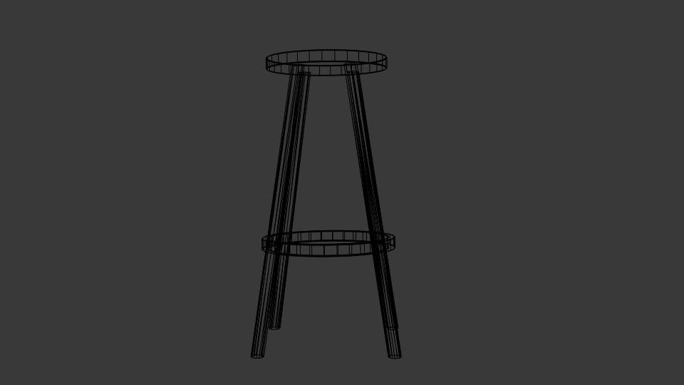 high stool 3d model blend 217402