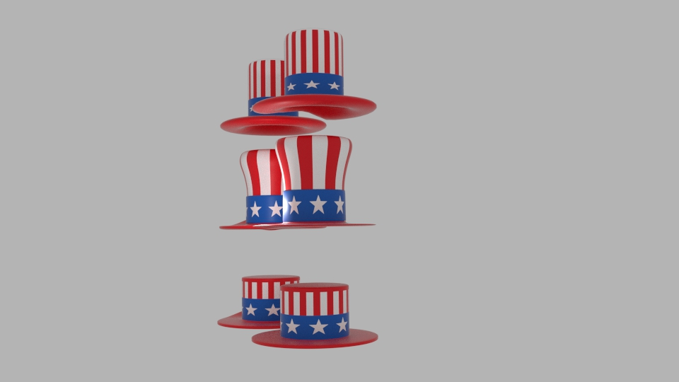 usa hat pack 3d model blend 217405