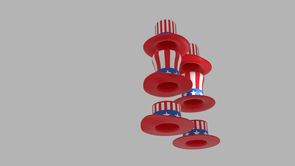 usa hat pack 3d model blend 217406