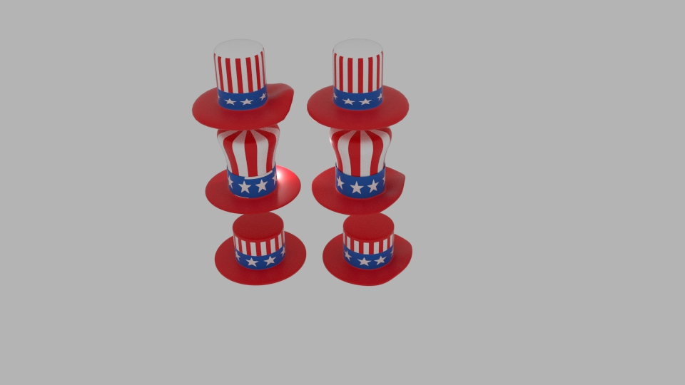 usa hat pack 3d model blend 217407