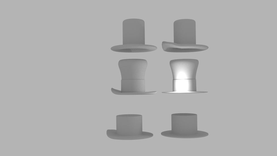 usa hat pack 3d model blend 217408