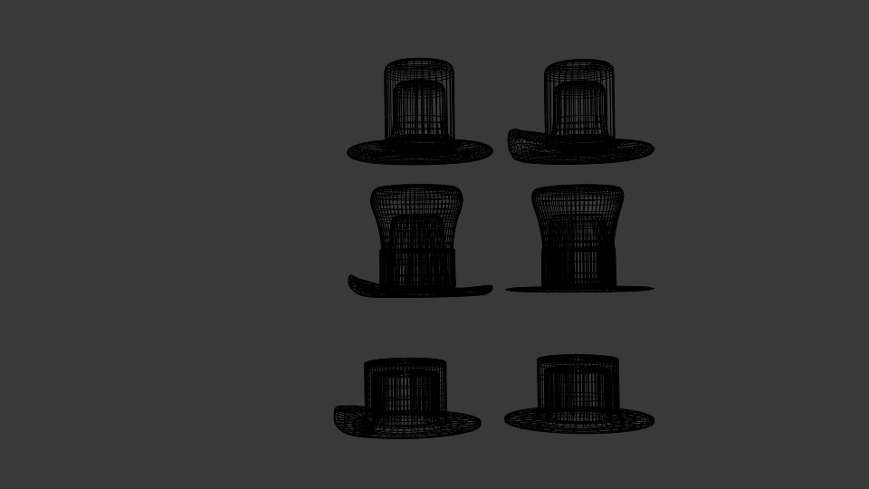 usa hat pack 3d model blend 217409