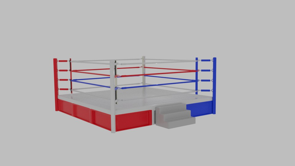 boxing rings 3d model blend 217411