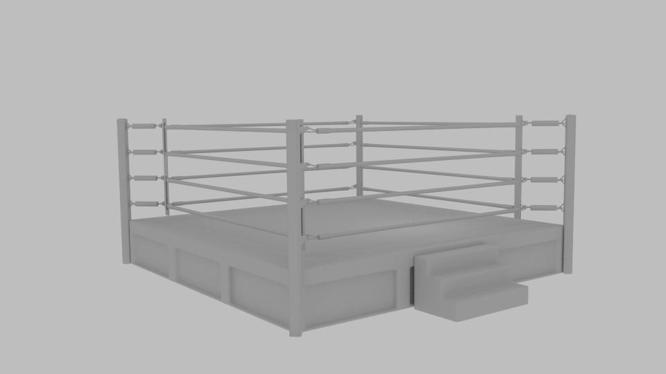boxing rings 3d model blend 217415