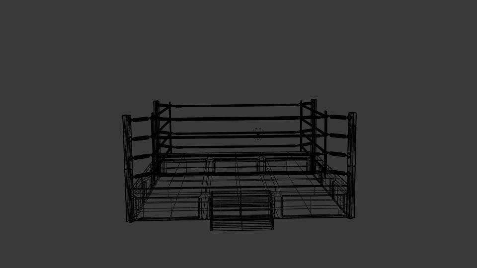 boxing rings 3d model blend 217416