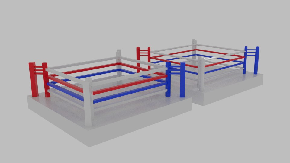 low poly boxing ring 3d model blend 217426