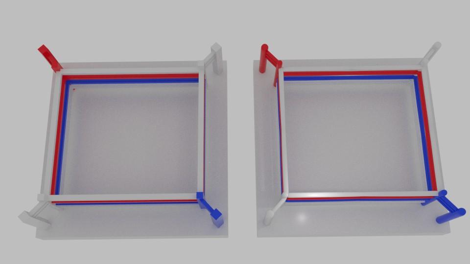 χαμηλή πολυ πυγμαχία δαχτυλίδι 3d μοντέλο μείγμα 217427