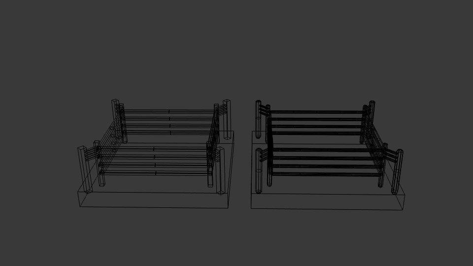 low poly boxing ring 3d model blend 217430