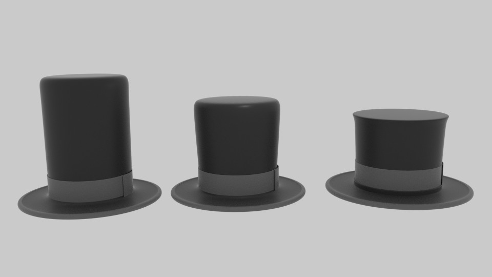 abraham lincoln hat 3d model blend 217439