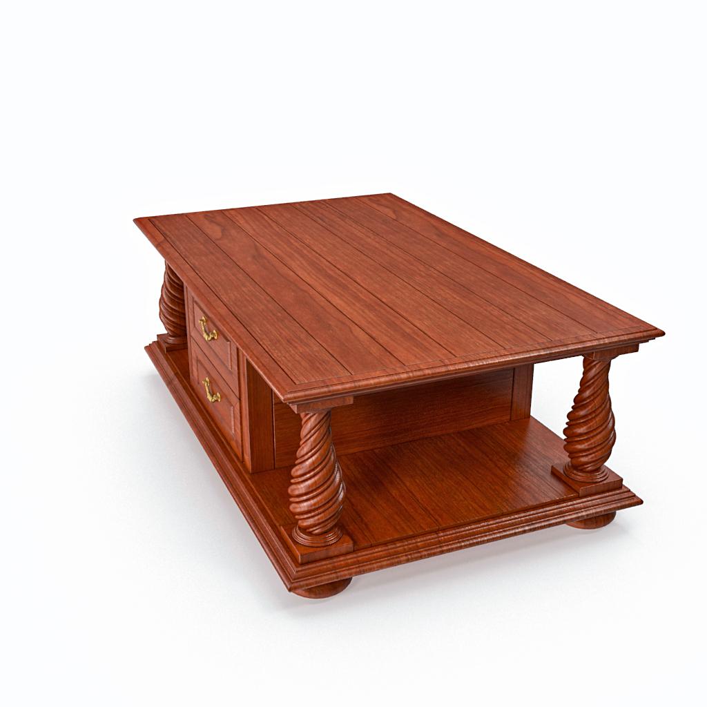 kafijas galdiņš ar atvilktnēm 3d modelis max fbx obj 217457