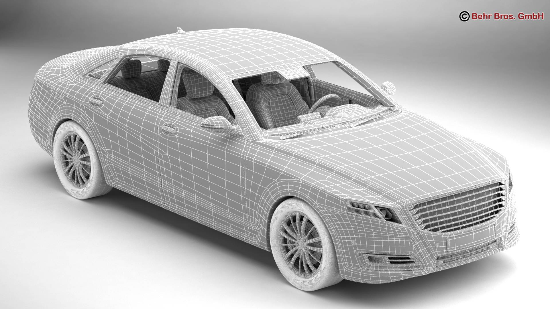 generic car luxury class 3d model 3ds max fbx c4d lwo ma mb obj 217478