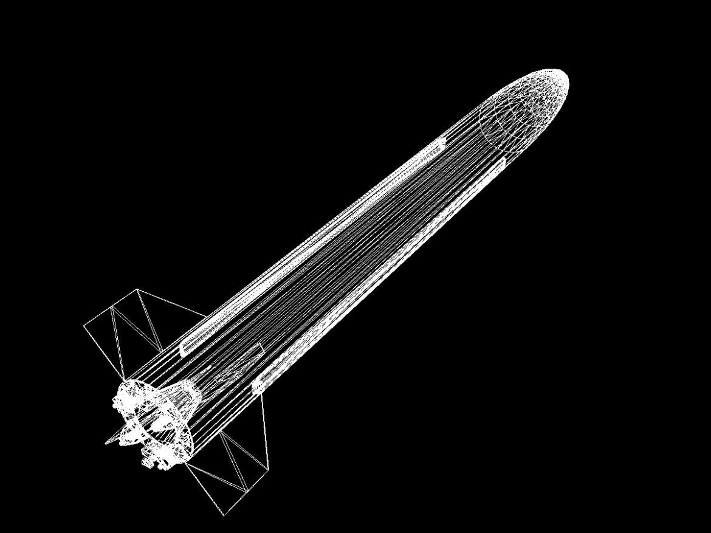 BP-12A Missile 3d model 3ds dxf fbx blend cob dae X obj