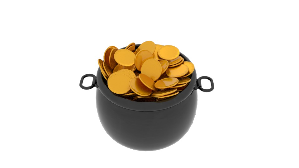 pot of gold 3d model blend 217531