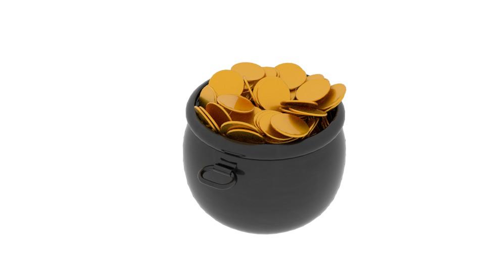 pot of gold 3d model blend 217532
