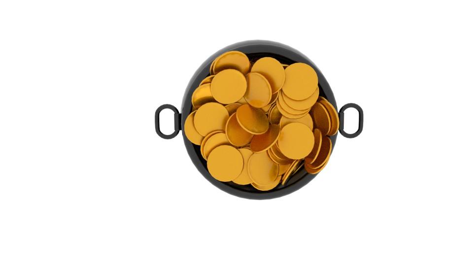 pot of gold 3d model blend 217533